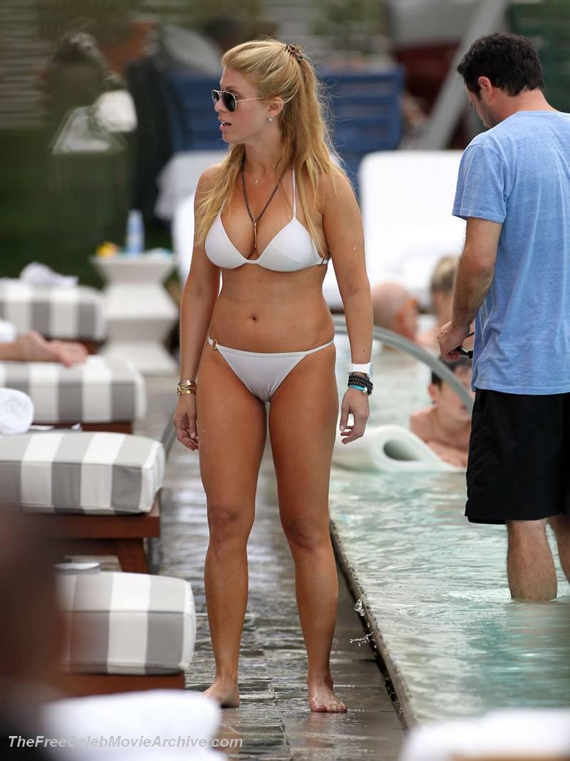 Jill Martin White Bikini
